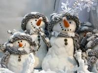 Jolly Christmas Snowman Family