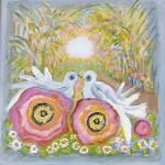 """""""Garden Lovebirds"""" by karenjlee"""