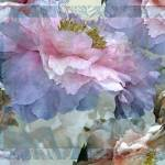 """Floral Potpourri with Peonies 24"" by LyndaLehmann"