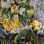 """""""Last Yellow Rose Modern Impressionism"""" by GinetteCallaway"""