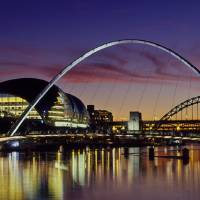 Bridges across a river, Tyne River, Newcastle Upo Art Prints & Posters by Panoramic Images