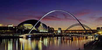 Bridges across a river, Tyne River, Newcastle Upo