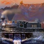 """DL&G Winter on the Colorado Narrow Gauge"" by ColoradoArt"