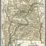 """Alabama Antique Map 1891"" by WilshireImages"