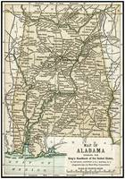 Alabama Antique Map 1891