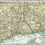 """Connecticut Antique Map 1891"" by WilshireImages"
