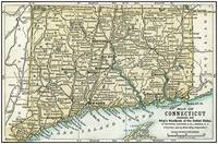 Connecticut Antique Map 1891