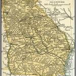 """Georgia Antique Map 1891"" by WilshireImages"