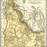 """Idaho Anique Map 1891"" by WilshireImages"