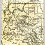 """Arizona Teritory Antique Map 1891"" by WilshireImages"