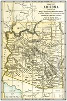 Arizona Teritory Antique Map 1891