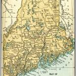 """Maine Antique Map 1891"" by WilshireImages"