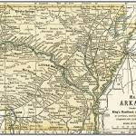 """Arkansas Anique Map 1891"" by WilshireImages"