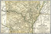 Arkansas Anique Map 1891