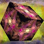 """Abstract 136 cube with textures"" by brianraggatt"
