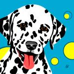 """Fun Dalmatian Dog Art"" by waterart"