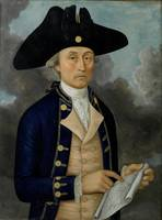 Captain Joseph Huddart, as depicted in a reverse g