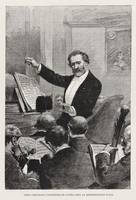 Giuseppe Verdi conducting the Paris Opera premiere
