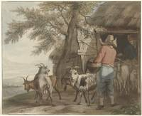 Goat Keeper in grinding, Christian Josi, 1821