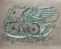 Flying bike texture signed 2015