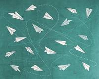 Paper planes pattern b texture signed