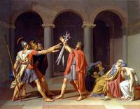 jacques-louis david, Oath of the Horatii (from 178