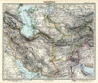 Map of Iran and Turan in Qajar dynasty drawn by Ad
