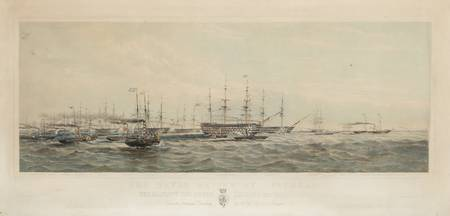 Pair of Lithographs The Naval Review at Spithead &