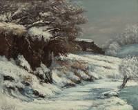 Snow Effect, Snow Landscape In Jura , Gustave Cour