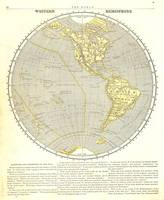 The World - Westhem Hemisphere 1845