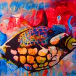 """Large Spotted Trigger Fish"" by DavidBleakley"