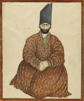 A portrait of a seated nobleman, signed by Abu'l H