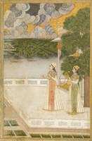 A princess, identified as Nur Jahan, smoking a huq