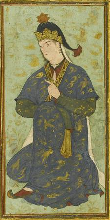A Seated Princess, Persia, Safavid, probably Herat