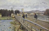 ALFRED SISLEY, FOOTBRIDGE AT ARGENTEUIL