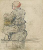 ATTRIBUTED TO HENDRICK AVERCAMP ; YOUNG BOY SEATED