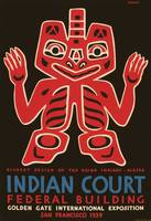 Blanket design of the Haida Indians, WPA poster fo
