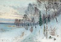 CARL JOHANSSON, WINTER LANDSCAPE.