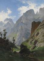 Carlos de Haes - mancorbo the channel in the Picos