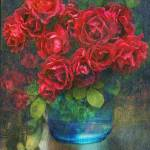 """roses in blue jar"" by rchristophervest"