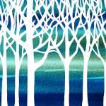"""""""White And Teal Forest"""" by IrinaSztukowski"""