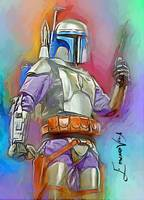 Jango Fett #2 Art by Edward Vela