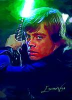 Luke Skywalker #4 Art by Edward Vela