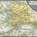 """Alaska Antique Map 1891"" by WilshireImages"