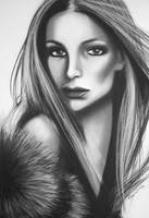 CHRISTINA - Original Art - Charcoal Drawing by Aus