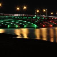 Kenneth F. Burns Memorial Bridge- Christmas Lights Art Prints & Posters by Luke Moore