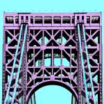 """George Washington Bridge Tower New York"" by WilshireImages"
