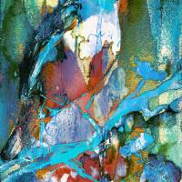 """Abstract Bird in Tree Modern Decor"" by Ginette Callaway"