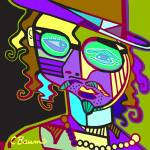 """Johnny Depp Abstract"" by cbaumsart"