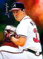 Greg Maddux #8 Art by Edward Vela
